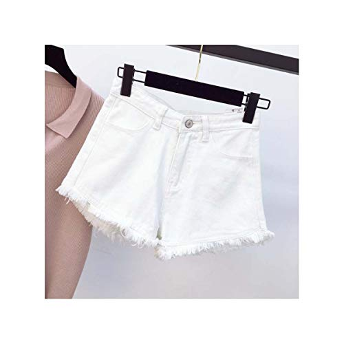 Mini Denim Jeans Short Women Sexy Short Jeans Feminina Punk High Waist Short Summer 2019 Street Wear Solid Jeans Vintage White L -