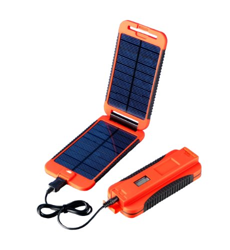 Powertraveller Powermonkey Extreme 5V and 12V Solar Portable Charger, Red