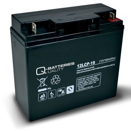 Q-Batteries 12LCP-19 / 12V - 19Ah Blei Akku Zyklentyp AGM - Deep Cycle VRLA