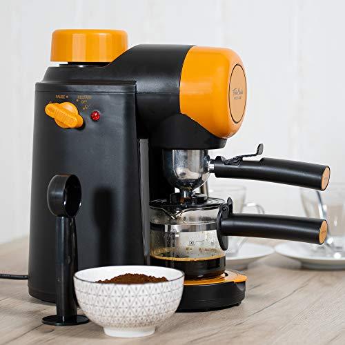 ECODE Cafetera Espresso Forte Classic, 5 Bar, Vaporizador Orientable, Máquina De Café, Sistema Latte, Capuccino, Jarra para 2 o 4 comensales, 800 w, ECO-405