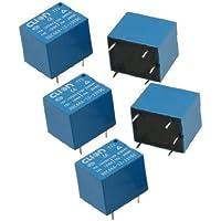 DealMux a12062600ux0431 5 x HHC66A-1Z (T73) Propósito Bobina SPDT 5 Pin PCB Geral Poder Relay, DC 12V