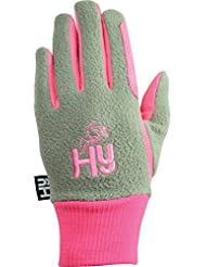 Hy5niños 2tonos Guantes de invierno, color rosa y gris