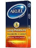 Akuel Long Pleasure, Preservativi Ritardanti Lubrificati, 6 Pezzi