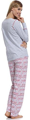 Merry Style Damen Schlafanzug 1194 Melange-1A