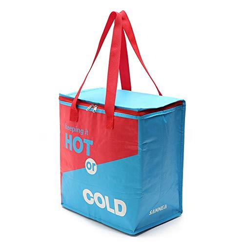 DUBENS Große Kühltasche Isoliert Picknicktasche Kühlbox Lunch Tasche Lebensmitteltransport für Büro Arbeit Outdoor Camping Reisen, Eistasche klappbar Wasserdicht Faltbar 26L, 27x17x21CM