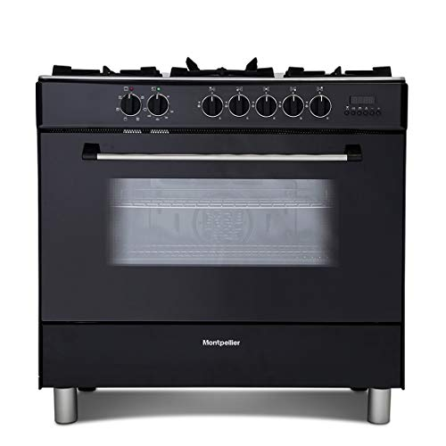 41Q1IgEU%2BNL. SS500  - Montpellier MR91DFMK 90cm Single Cavity Dual Fuel Range Cooker - Black