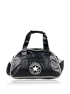Bolso Converse 99CCP74-62 tipo bowling diseño retro, color negro