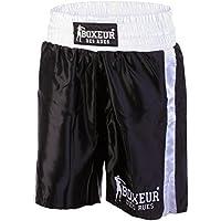 Boxeur des rues - Pantalón Corto de Boxeo Modelo clásico Fight Activewear, Hombre, Fight Activewear, Negro, XXL