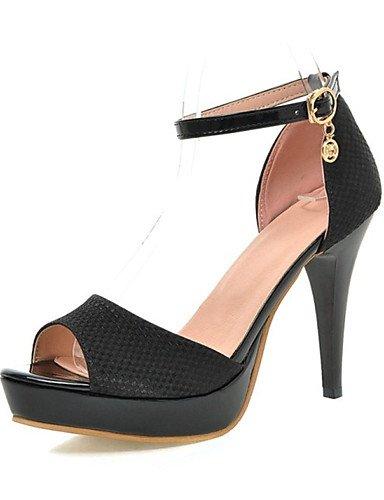 LFNLYX Chaussures Femme-Mariage / Bureau & Travail / Habillé / Décontracté / Soirée & Evénement-Noir / Beige-Talon Aiguille-Talons / Bout Ouvert- Black