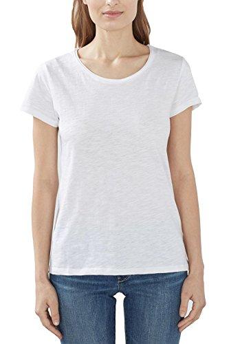 ESPRIT Damen T-Shirt 997EE1K804, Weiß (White 100), 40 (Herstellergröße: L)