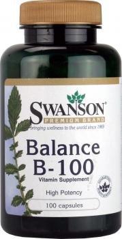 Swanson High Potency Balance B-100 - 100 Capsules - B1 Thiamin, B2 Riboflavin, Niacinamide , B6 Pyridoxine, Folic Acid, B12 Cyanocobalamin, Biotin, Pantothenic Acid, Choline, Inositol, PABA from Swanson Health Products