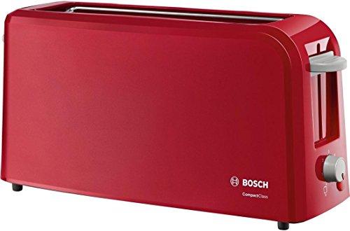 Bosch TAT3A004 - Tostador eléctrico, 980 W, para 2 rebanadas de pan, color rojo