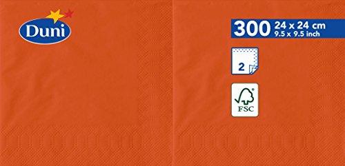 Duni 1683892lagig Tissue Servietten, 24cm x 24cm, mandarin (2400Stück) - Tissue-papier Wirtschaft