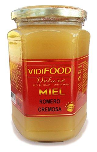 Miel de Romero Crema - 950g - Producida en España - Alta Calidad, tradicional & 100% pura - Aroma Floral y Sabor Rico y Dulce - Amplia variedad de Deliciosos Sabores