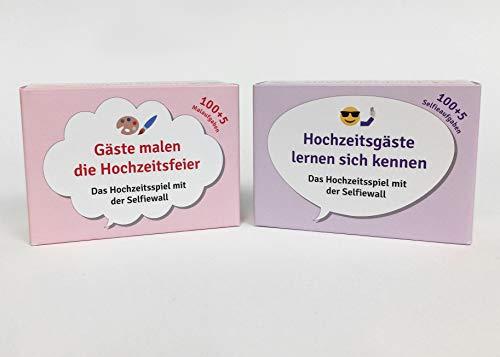 tsspiel, 2 x 100 Karten mit lustigen Aufgaben für die Hochzeitsgäste ()