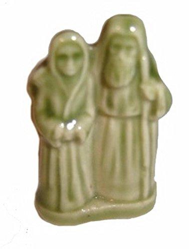 Noé et Sa Femme - (Thé Rose Rouge/WADE Figurine, Arche de Noé série 2002-2006)
