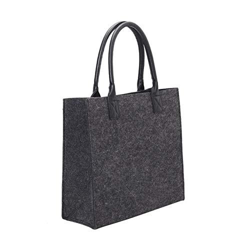 Yves25Tate Filztasche Einkaufstasche Shopper Bag, Umweltfreundliche Faltbare Henkeltasche Festival Handtasche, Leicht und Stabil, für Täg...