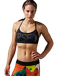 Reebok RCF Skinny Bra Graphic - Top para mujer, color negro, talla 34-36