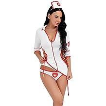FEESHOW Vestido De Mujer Enfermera Traje Traje Ropa Interior Lencería