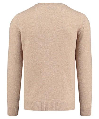GANT Herren Pullover Extra Fine Wool V-Neck Stein