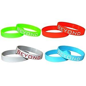 Beyond Dreams 4 Silikonarmband für Kinder Herren Damen | Armband aus Silikon | Armbander für Männer Sport Motivation Power Balance | Sportarmband Gummiband | Silikonbänder Herrenarmband Fitness