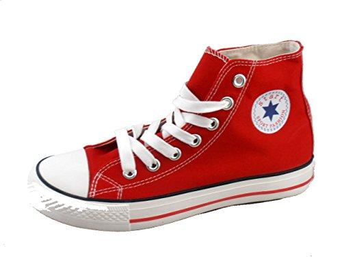 Rebelde , Damen Sneaker Rot
