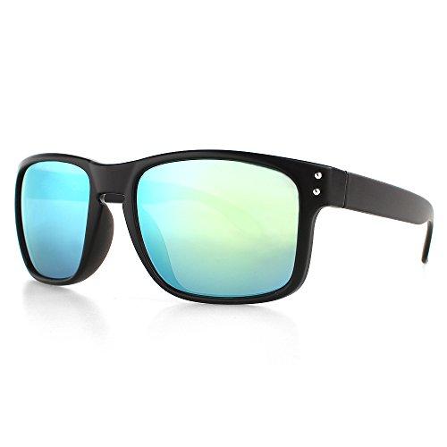 DISTRESSED Superior Sonnenbrille Sportbrille verspiegelt oder getönt - viele Farben (schwarz-gold-verspiegelt)