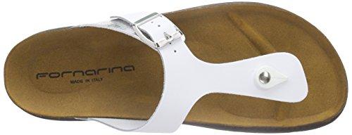 FornarinaRea - Infradito Donna Multicolore (Mehrfarbig (White Silver 0900))