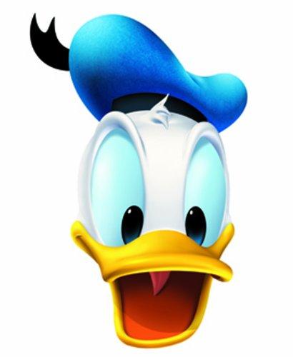 Kostüm Duck Kind - Star Cutouts Bedruckte Gesichtsmaske von Donald Duck