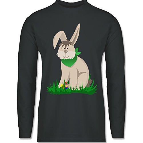Ostern - Osterhase - Longsleeve / langärmeliges T-Shirt für Herren Anthrazit