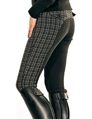Pfiff Anna - Pantalones de equitación con culera para mujer multicolor schwarz/braun Talla:40