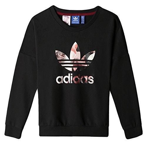 adidas Kinder Kinder Sweats und Hoodies Allover Print Sweatshirt Kinder, rot/pink/schwarz, 116, AB2111 (Adidas Print Sweatshirt)