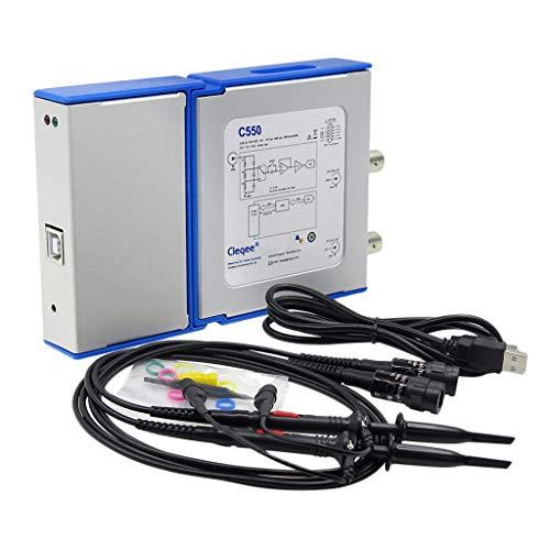 perfk C550 USB-Oszilloskop, 50 MHz, 2 Kanäle, Tastkopf -