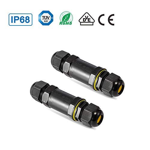 YouFia® Verbindungsmuffe TÜV geprüfte 5 polig Kabelverbinder IP68 wasserdichte Verbindungsbox erdkabel abzweigdose kabel muffe für 4-14 mm (2 Stück) -