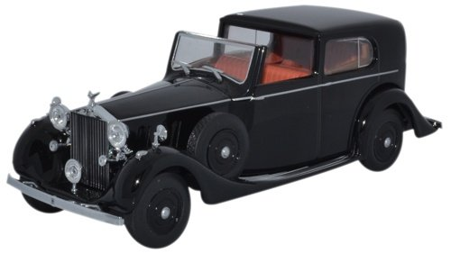 Rolls Royce Phantom III Sedanca de Ville Mulliner, schwarz, RHD, 0, Modellauto, Fertigmodell, Oxford 1:43 - Phantom Rolls-royce Modell