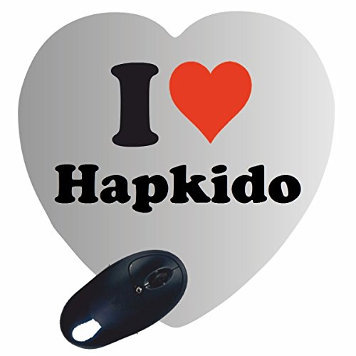 """EXCLUSIVO: Corazón Tapete de ratón """"I Love Hapkido"""" , una gran idea para un regalo para sus socios, colegas y muchos más!- regalo de Pascua, Pascua, ratón, Palmrest, antideslizante, juegos de jugador, cojín, Windows, Mac OS, Linux, ordenador, portátil, PC, oficina, tableta, Amo, Made in Germany."""