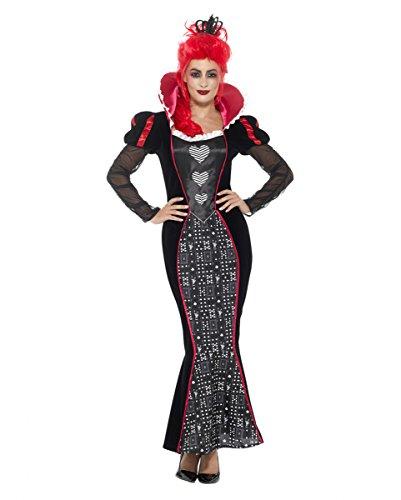Königinnen Kostüm mit Herzen L