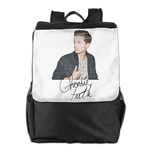 Fuoalf Charlie Puth escuela viaje Laptop Mochila hombros