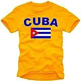 coole-fun-t-shirts Herren t-shirt KUBA FLAGGE  - Cuba Libre