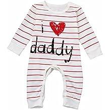 3e95bf4471 BYSTE Body Bambina Neonato Pigiama Maniche lunghe bambino lettera Amore  banda stampa Salire vestiti Romper Tuta