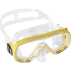 Cressi Ondina Masque de Plongée Enfant - Masque de Snorkeling Enfant enfant Transparent/Jaune
