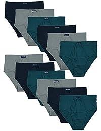12 oder 6 weiche MioRalini Slips mit Eingriff in klassischen Farben Material 100% Baumwolle Slips Brief Slip Herren Mann Boy Junge Man Men M L XL 2XL 3XL 4XL