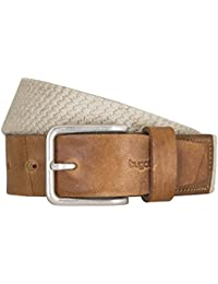 bugatti Gürtel Herrengürtel Textilbandgürtel Stretchgürtel Beige 5225