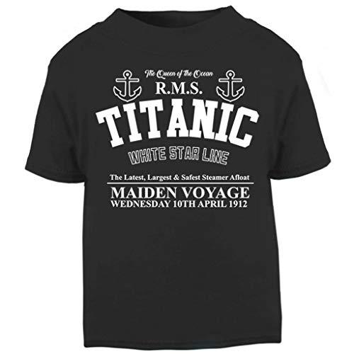 Titanic Maiden Voyage Baby and Toddler Short Sleeve T-Shirt (Titanic Kostüm Kinder)