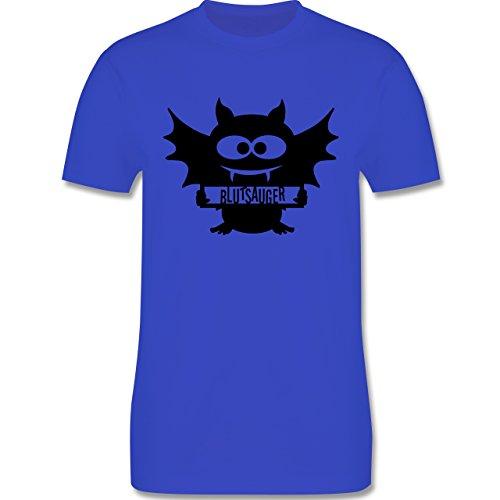 Halloween - Fledermaus - Herren Premium T-Shirt Royalblau