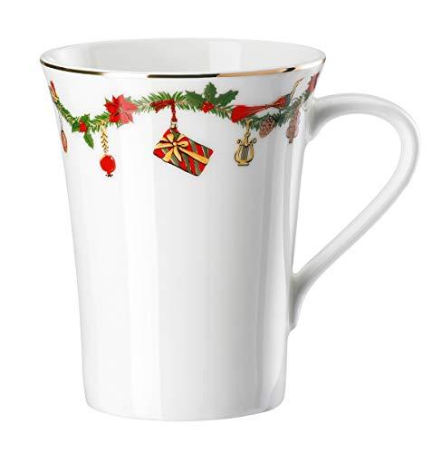 Hutschenreuther - Becher mit Henkel, Henkelbecher, Kaffeebecher - Nora - Christmas - Bone China - 400 ml