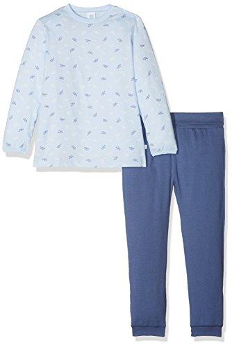 Sanetta Baby-Jungen Zweiteiliger Schlafanzug 221387, Blau (Light Blue 50137), 98