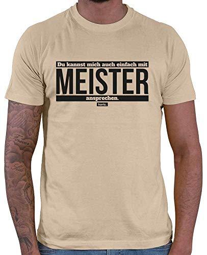 HARIZ  Du Kannst Mich Auch Einfach mit Meister ansprechen//Original Herren T-Shirt - 16 Farben, XS-4XXL//Beruf | Prüfung | Kfz | Handwerk | Bestanden #Meister Collection Sand XL