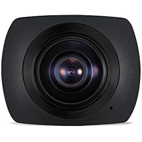 Boblov Okaa divierte la cámara panorámica VR WIFI 1440P 360 con la cámara de vídeo impermeable de la caja de Accesorios para Buceo Escalada Skiing- Negro