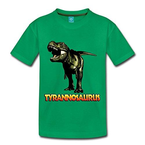 Spreadshirt Tyrannosaurus Rex Kinder Premium T-Shirt, 110/116 (4 Jahre), Kelly Green